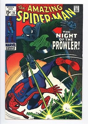 Amazing Spider-Man #78 Vol 1 Near Perfect High Grade 1st App of the Prowler