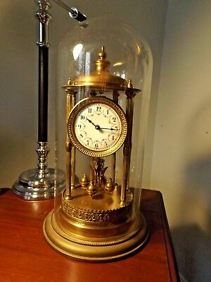 Antique German Large Transatlantic Clock Company 400 Day Anniversary Clock wDome