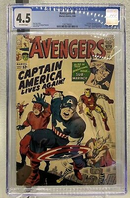 Avengers #4 CGC 4.5 1964 Off-white (1stSilver Age appearance of Captain America)