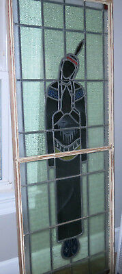 Antique Native American Indian Stained Glass Window Estate Find Beautiful Look!