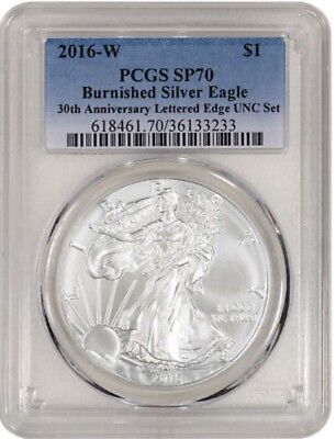 2016-W American Silver Eagle Burnished - PCGS SP70 from Annual  Dollar coin Set.