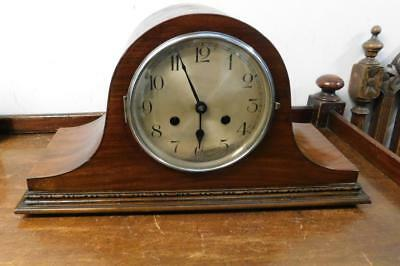 mahogany striking mantel clock