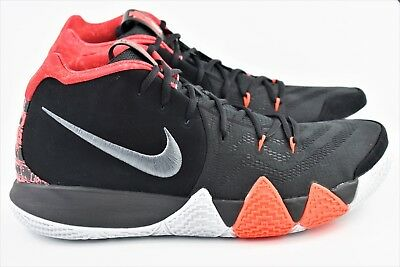 2796e3ac13d5 Nike Kyrie 4 Mens Size 9 Basketball Shoes 943806 005 Black For The Ages