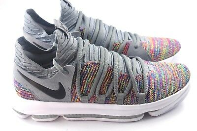 0cc6318871a NIKE ZOOM KD10 KDX Mens Size 13.5 Basketball Shoes Multicolor 897815 ...