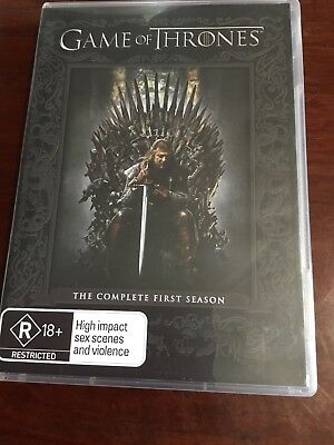 GAME OF THRONES Complete First Season Like New 5 DVDs R4 PAL
