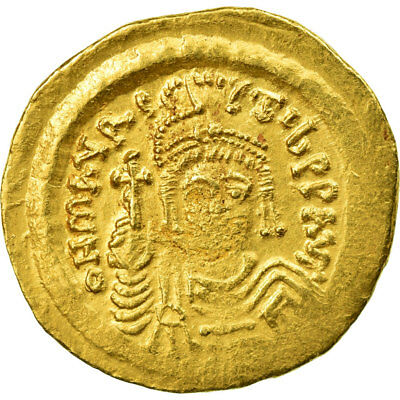 [#653204] Coin, Maurice Tiberius, Solidus, Constantinople, EF(40-45), Gold