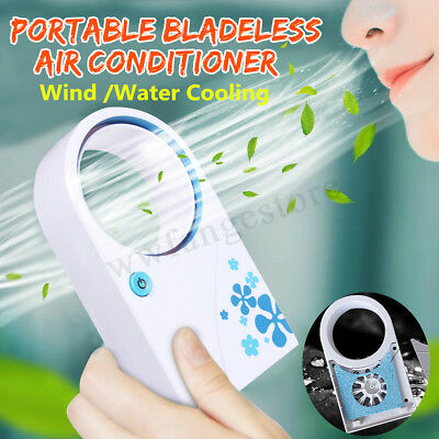 Mini Portable USB Bladeless No Leaf Cooling Wireless Desk Air Conditioner Cooler