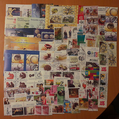 SLOVENIA 100 different used stamps & blocks  LOT 3