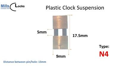 5 x Brass Clock Pendulum Large Suspension Springs. (35mm x 7mm x 15mm) (Type A)