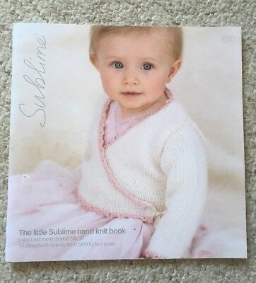 0e809bd61 THE LITTLE SUBLIME Hand Knit Book ~ 15 Designs From Birth To Two ...