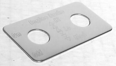 switch plate engine brake high low med stainless block letters for Kenworth dash