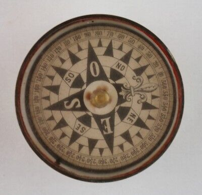 Yacht compass with dry card in brass binnacle, 19th century