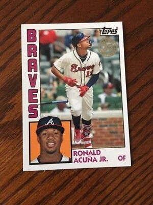 2019 Topps Series 1 1984 Anniversary Card #t84-19 Atlanta Braves Ronald Acuna Jr