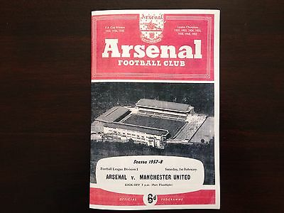 Arsenal v Man Utd 1957-58 Pre Munich, Busby Babes Last Game prior to Munich.