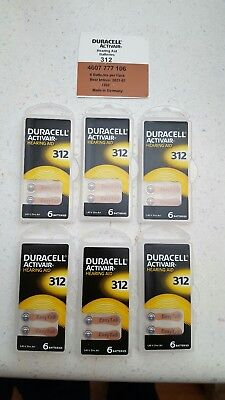 Duracell Activair Mercury Free Hearing Aid Batteries Size 312  24 count