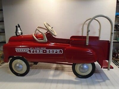 Murray Fire Truck Pedal Car Vintage 1950s Jet Flow Drive City Fire Restored