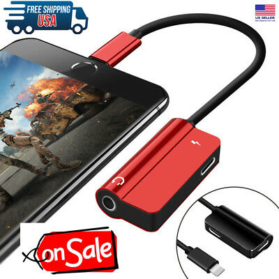 Headphone Audio Adapter Charger IOS 12 For lightning to 3.5mm Jack Earphone Aux