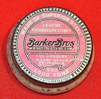 Antique Barker Bros Photograph Needle Container