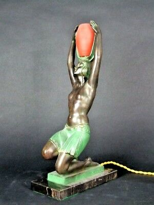 French Art Deco Amazing Table Lamp by Pierre le Faguays 1892-1962