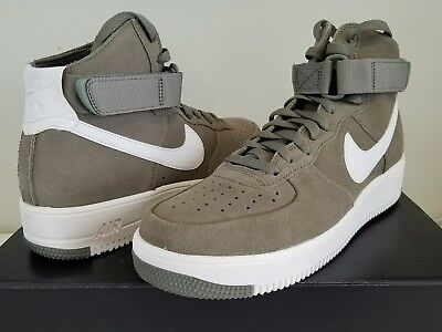 b88ef291bed45 Mens Nike Air Force 1 UltraForce HI 880854-003 size 10 Dark Stucco Summit  White