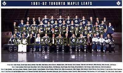 1992 Toronto Maple Leafs Team Photo 8X10