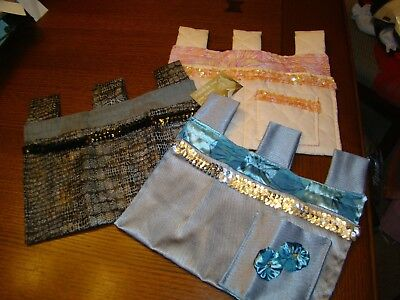 Walker scooter phone bag Hanging Storage purse Accessory Tote Caddy cart 3 lot