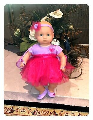 Bitty Baby Butterfly  Doll New Fair Blond Blue New