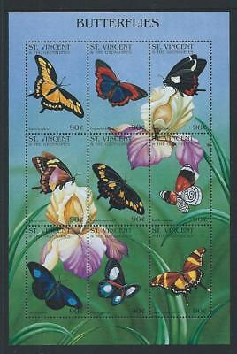 1996 ST.VINCENT Butterflies Sheetlet MNH
