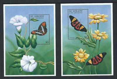 1996 ST.VINCENT Butterflies Minisheet Set MNH (SG MS3309)