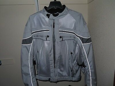 Olympia Moto Sports Cordura Motorcycle Jacket Size 3XL Mesh Lined Reflective 3M