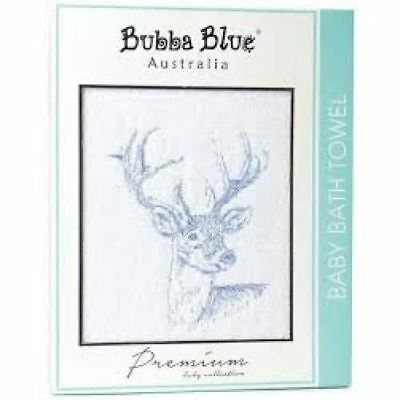 Baby Bath Towel by Bubba Blue Premium Collection Absorbent Cotton New - Deer
