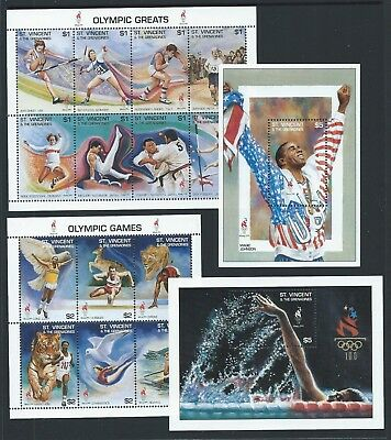 1995 ST.VINCENT Atlanta Olympics (1st Issue) Complete Set MNH