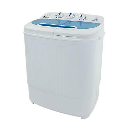 Portable Mini Washing Machine Compact Twin Tub Washer Spin & Dryer US 13LBS