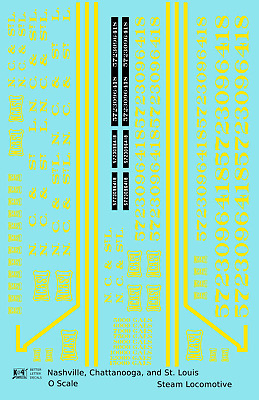 K4 G 1:32 Decals Nashville Chattanooga /& St Louis 40 Ft Boxcar NC/&StL