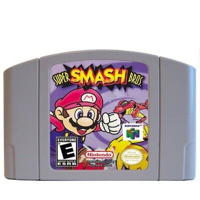 Super Smash Bros - Nintendo 64 Video Game Cartridge for N64 Console US Version