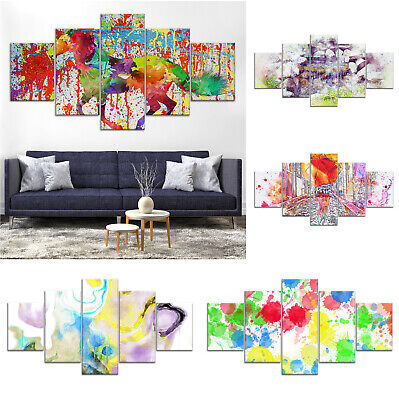 Colorful Modern Abstract Canvas Print Painting Framed Home Decor Wall Art Poster