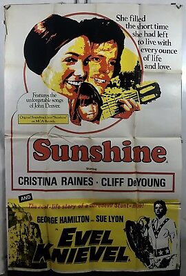 EVIL KNIEVEL SUNSHINE Movie Poster (VeryGood) 1971 40x60 One Sheet 008F