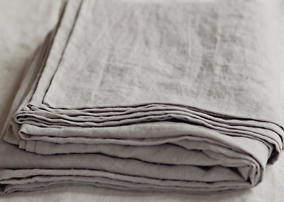 100% pure Linen Flat Sheet, Queen Size, Natural Linen color, organic french flax
