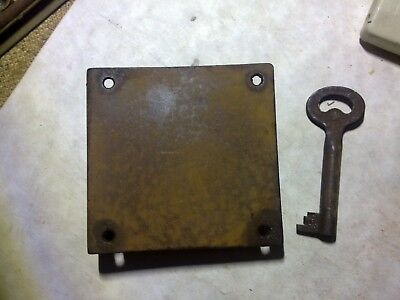 drawer or cupboard lock, steel, 70 mm, antique (DH12)