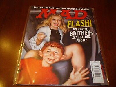 Britney Spears on the cover of Mad Magazine Feb 2007