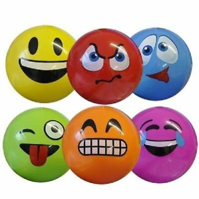 15cm  INFLATABLE EMOJI FACE  NOVELTY BEACH BALL KIDS TOY Buy 2 Get 1 Free