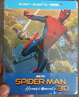 BLU RAY 3D + 2D Spider-man HOMECOMING STEELBOOK Édition française MARVEL