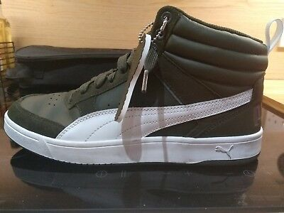 2d0fad322c582d Puma Rebound Street v2 mid cut Shoes Trainers 363715 Forest Night Size UK 8  Used