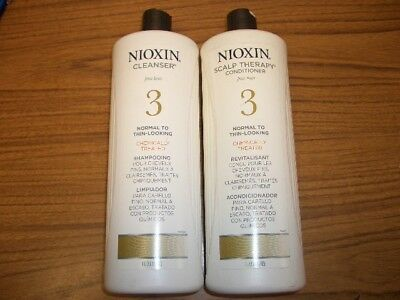 NIOXIN System 3 Cleanser & Scalp Therapy 33.8oz - Shampoo and Conditioner