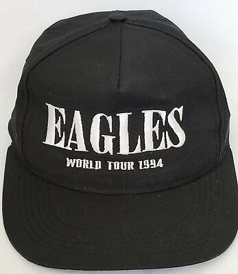Vintage 1994 Eagles Snapback Hat Black Hell Freezes Over Concert Cap World Tour