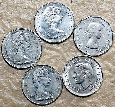 1940, 1961, 1965, 1966 and 1967 Canadian Nickels Lot AD