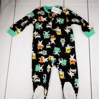 2ad68d4840 Carter s Boy s 18M Black Karate Monster Footed Blanket Pajama Sleeper New  Nwt