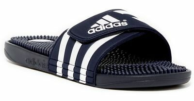 630f5fa99 New Men s Adidas Adissage slides Navy blue white massage Sandals 078261