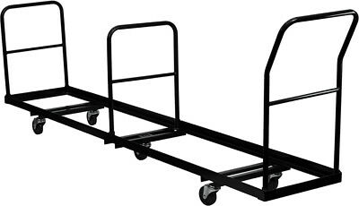 Vertical Storage Folding 50 Chair Capacity Dolly Carrying Rack
