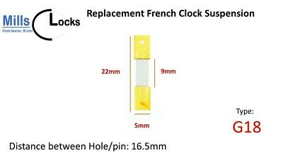 Brass French Clock Pendulum Suspension Spring. (22mm x 9mm x 5mm)  (G18)